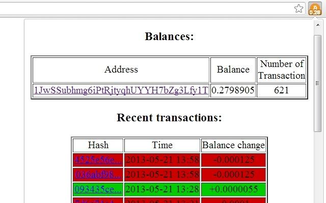 TP's Bitcoin Balance