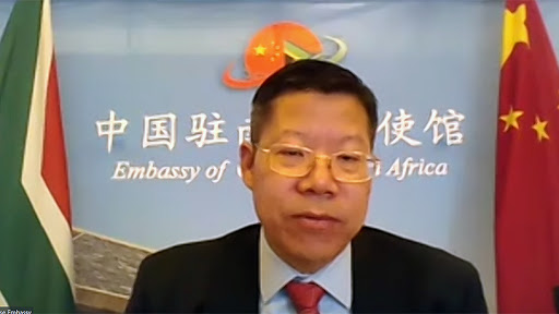 The Chargé d'Affairs of the Chinese Embassy in SA, Li Nan.
