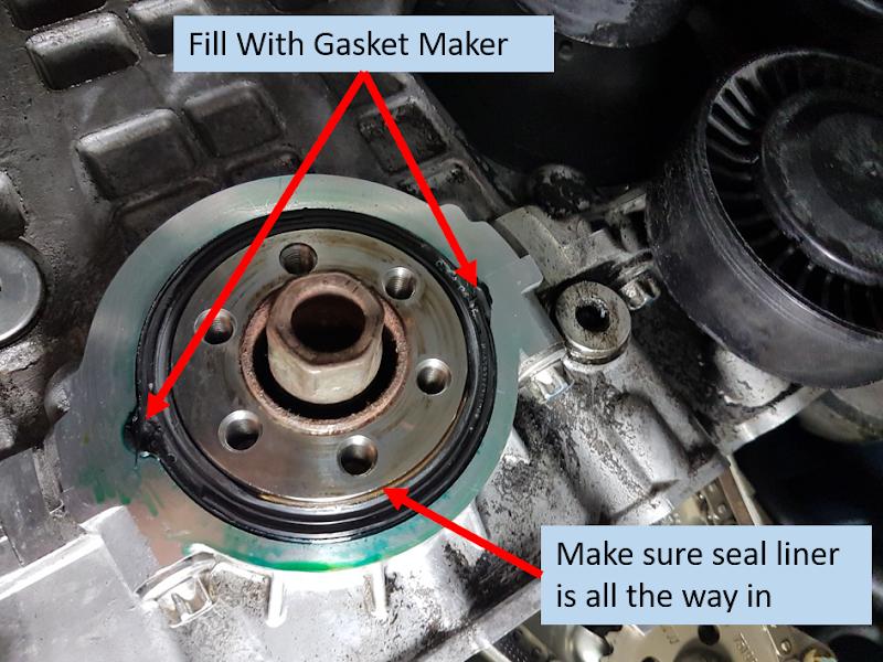 diy   front crankshaft seal replacement