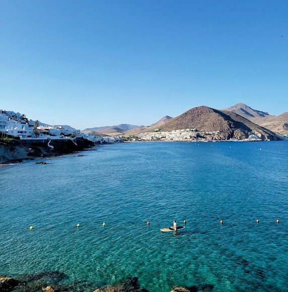El mar azul del Cabo, una imagen recurrente en su perfil de Instagram.
