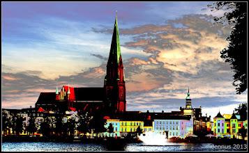 Photo: Sunset in Schwerin