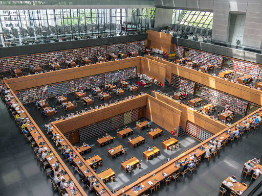 Beijing-National-Library - The National Library of China, the largest library in the world, contains millions of books.