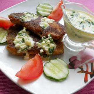 Easy Fried Carp Fillets with Tzatziki