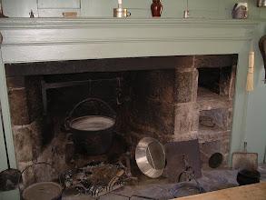 Photo: kitchen fireplace, Fitch house