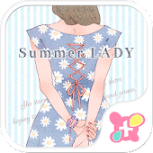 Cute Theme-Summer Lady-