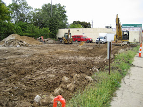 Photo: Leveling of the parking lot