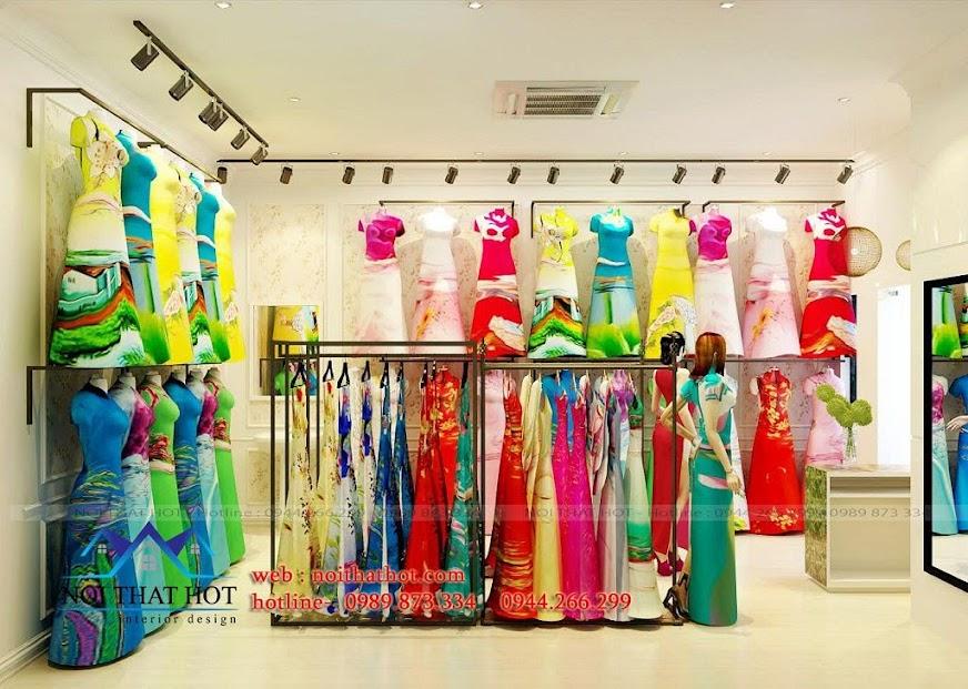 thiết kế shop áo dài chuyên nghiệp đẹp mắt