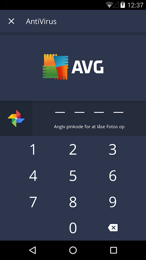 AVG Antivirus Gratis til Android – screenshot