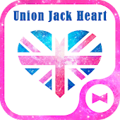 Wallpaper Union Jack Heart
