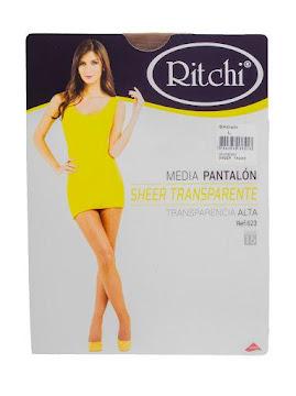 //Medias Ritchi Sheer   Transparente Efecto Bronceado L Brown X1Und.