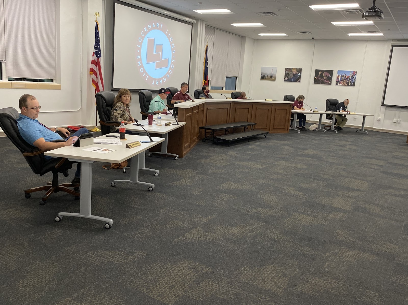 LISD Board at May 18, 2020 meeting
