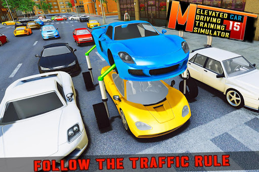 Elevated Car Racing Speed Driving Parking Game screenshot 6