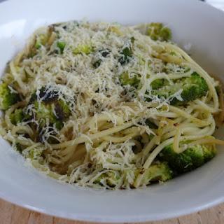 Spaghetti With Charred Broccoli, Garlic, Chilli And Lemon.