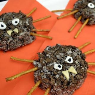 Cocoa Pebbles Spider Crispy Treats