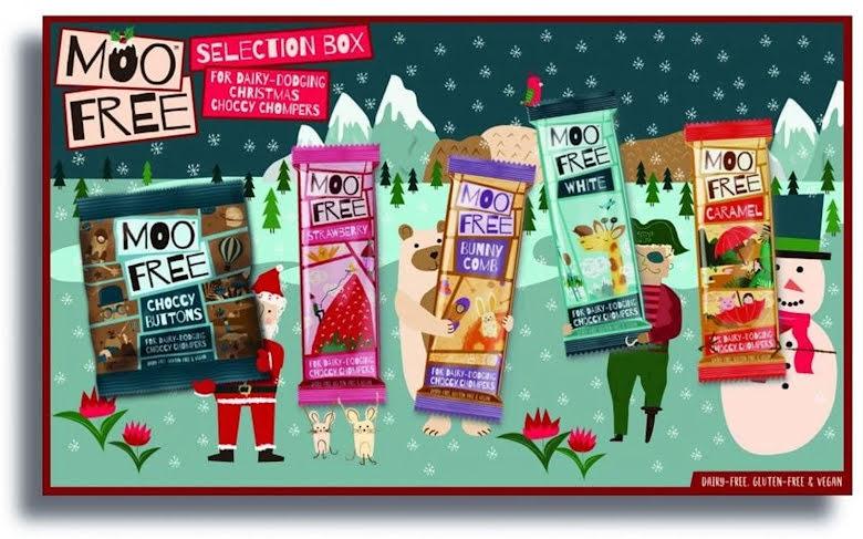 Christmas Selection Box - Moo Free mjölkfri mjölkchoklad
