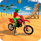 Racing Moto Beach Jumping Games