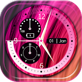 Neon Live Clock Wallpaper with Date