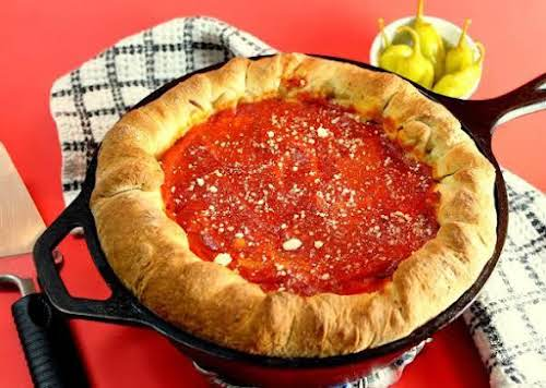 """Sweet Home Chicago Style Deep Dish Pizza """"Why travel to Chicago for..."""