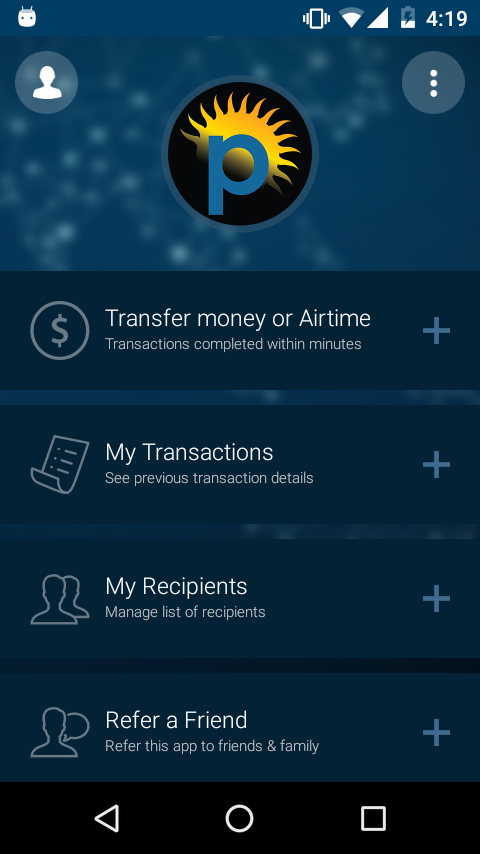 Ping Express Instant Transfer- screenshot