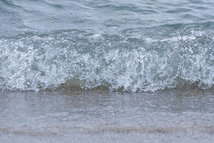 守谷海水浴場 波打ち際