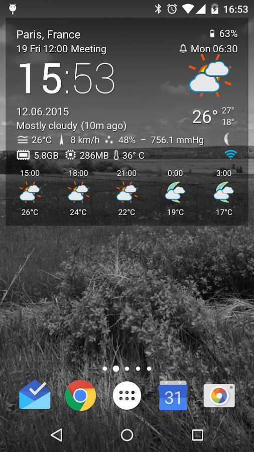 TCW weather icon pack 1- screenshot