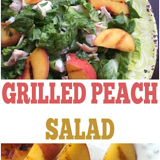 Grilled Peach Salad with Champagne Vinaigrette.