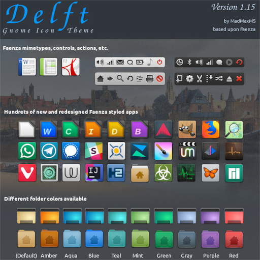 How to install the Delft icon theme in Linux
