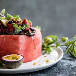 Meet The Watermelon Cake With Cacao Fudge Frosting.