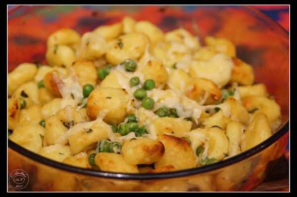 Toasted Gnocchi With Peas
