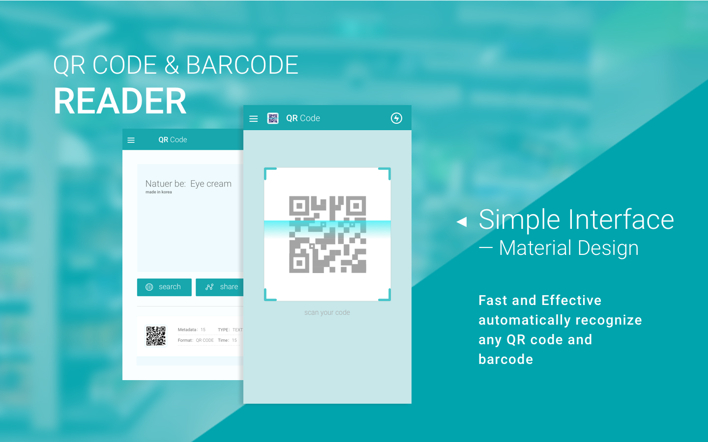 Poster design with qr code - Qr Code Scanner For Android Screenshot