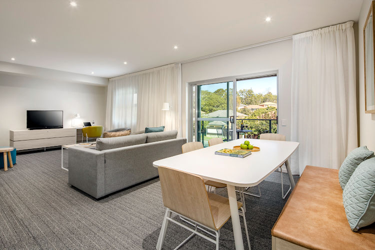 Simplistic living area in Quest Eight Mile Plains
