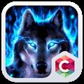 Wolf Blue Flames Theme Meizu download