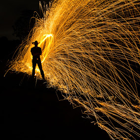 by Sarah King - Abstract Fire & Fireworks ( , Steel Wool, Fire, Sparks )