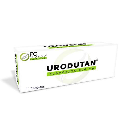 Flavoxato Urodutan 200mg 10 Tabletas FC Pharma