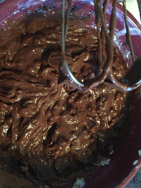 Pre heat oven to 325 degrees. Mix brownie ingredients as listed and bring together...
