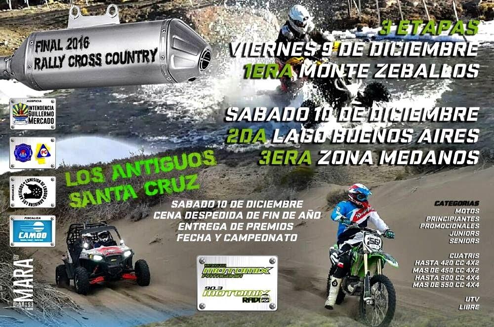 El Rally Cross Country finaliza en Los Antiguos