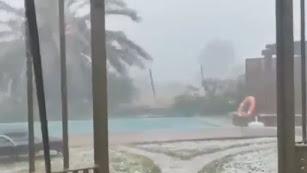 Lluvias torrenciales en Lubrín.