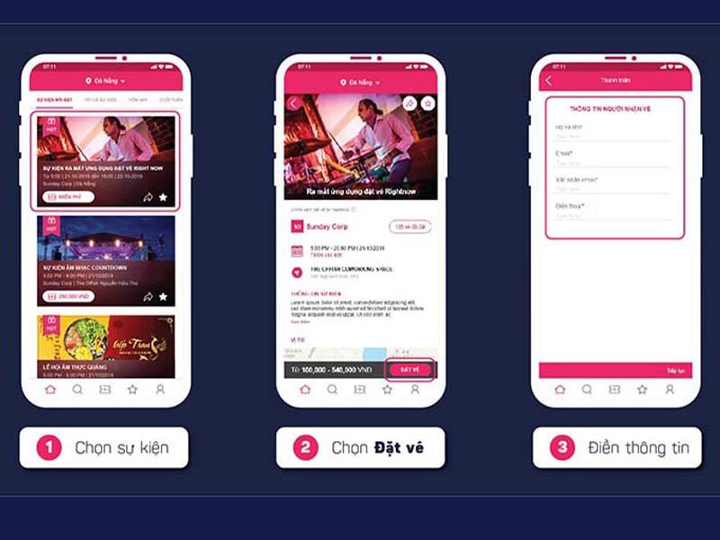 Tải App Rightnow - Mua vé sự kiện chưa bao giờ dễ dàng hơn