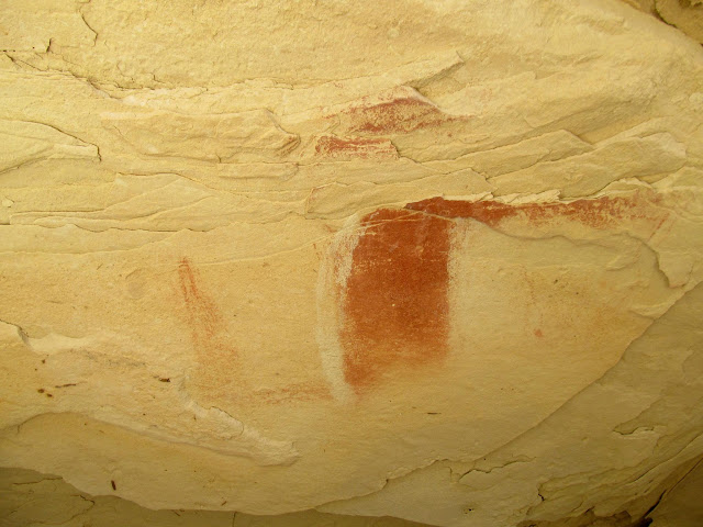 Badly weathered pictograph