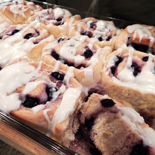 Iced Lemon Blueberry Breakfast Buns