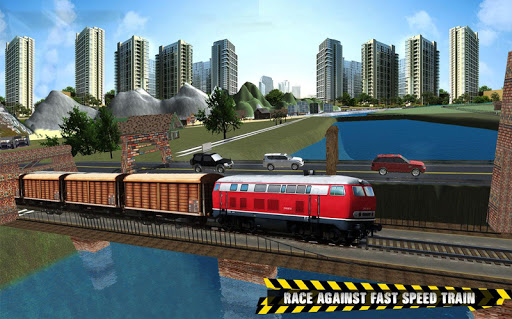Train vs Prado Racing 3D  screenshots 8