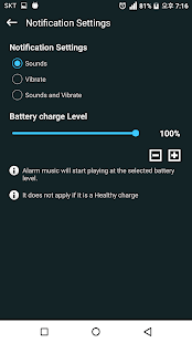 Battery charge sound alert - Smart
