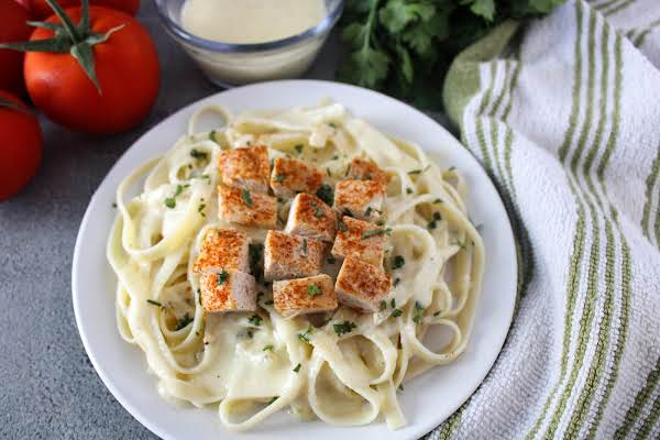 Milk And Butter Substitute For Heavy Cream Used In An Alfredo Sauce.