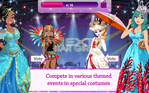 Star Girl - Fashion, Makeup & Dress Up  screenshots 4