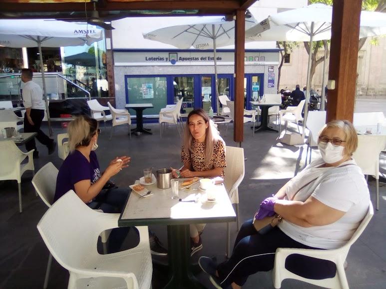Café-bar Barea, en la Plaza de San Sebastián. /J.A. Barrios
