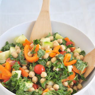 Balsamic Kale Chickpea Salad