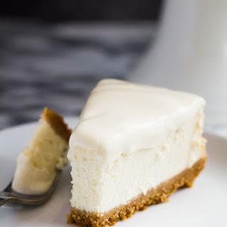 Perfect Vanilla Cheesecake.
