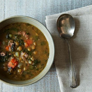 Lentil and Sausage Soup for a Cold Winter's Night.