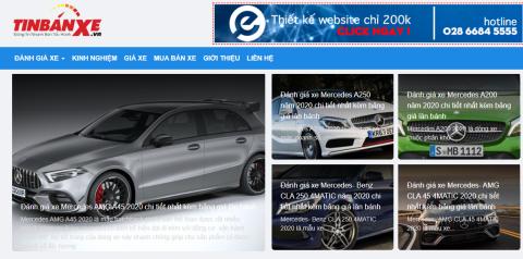 Tinbanxe.vn - trang web mua bán ô tô uy tín trong năm 2020 2