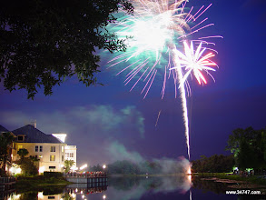 Photo: Fireworks, Town Center, Celebration, FL